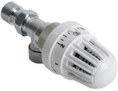 Witte Plieger thermostatische radiatorkraan verkeerd haaks 15mm klemx1/2 bu wit RAD KRAAN VERK HKS 1/2 W 4155000