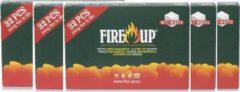 Fire-Up Fire Up witte paraffine aanmaakblokjes 32 stuks | 5 verpakkingen