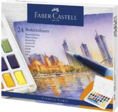 Waterverf Faber Castell palet à 24 kleuren assorti