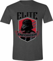 Grijze Star Wars - Rogue One Elite Enforcer Men T-Shirt - Anthracite - S
