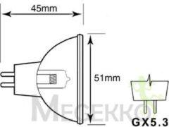 Philips 13163 ELC/5H 250W GX5.3 24V 1CT/24 250W GX5.3 Wit halogeenlamp