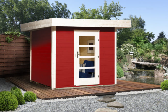Afbeelding van Rode Blokhut Lounge 1 Gr. 1 280 x 311cm rood/wit