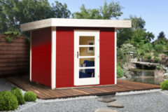 Rode Blokhut Lounge 1 Gr. 1 280 x 311cm rood/wit