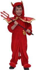 Groene Fun & Feest Party Gadgets Halloween Pluche duivel kostuum voor kinderen 116