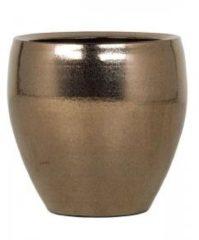 Gouden Ter Steege Amora pot 26x26x26 cm Gold bloempot binnen