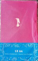 Evora elastische boekenkaft Roze