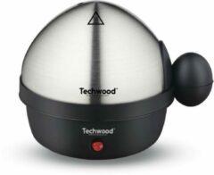 Roestvrijstalen Techwood - Multifunctionele eierkoker - elektrisch - koken - stomen - pocheren