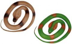 Fun & Feest Party Gadgets Halloween Rubberen slang groen 117 cm