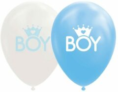 Blauwe Globos Europe 8 Boy Latex Ballonnen (baby)