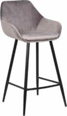 Grijze Grab A Chair barstoel Bastiaan Jr – Dovetail Brown