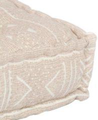VidaXL Palletbankkussen stof patchwork beige