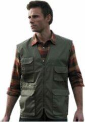 Result Outdoor/werk bodywarmer groen voor heren - Outdoorkleding/werkkleding - Mouwloze vissers/tuinier vesten L (40/52)
