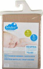 Baby Best BabyBest Respira hoeslaken-matrasbeschermer 60x120 cm ecru