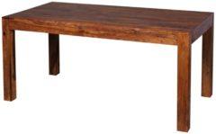 Wohnling WOHNLING Design Esstisch MUMBAI Holz Massiv 140 x 80 x 76 cm | Moderner Esszimmertisch Sheesham Palisander für 6 - 8 Personen Massivholz