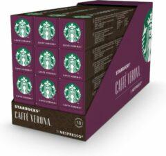 Starbucks by Nespresso capsules Caffe Verona Dark Roast - 12 doosjes à 10 koffiecups