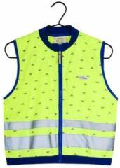 Gofluo. Jackson Veiligheidshesje - Reflecterend hesje - Fluoriserend - Veiligheidsvest - Lichtgewicht - Reflectie jas - Zichtbaarheid in het donker - Veilig de weg op - Geel - XS