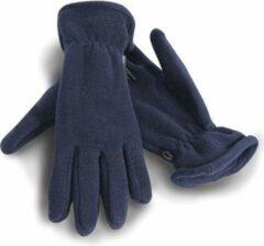 Marineblauwe Blauwe warme fleece handschoenen voor volwassenen L
