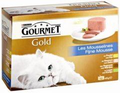 Purina Gourmet Gold Fijne Mousse - Kip - Kattenvoer - 12 x 85 g