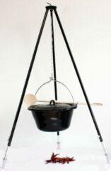 Zwarte Konder Hongaarse driepoot - complete set - met 16 L bogrács pan / heksenketel