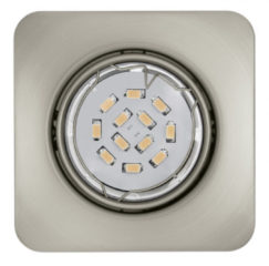 EGLO Peneto - Inbouwspotje - LED - 87X87mm. - Nikkel-Mat - Richtbaar
