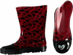 Rode Merkloos / Sans marque Kinder regenlaarzen met lieveheersbeestje print 30