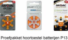 Horend Goed Hoortoestel batterijen - P13 - Oranje - Probeer pakket - welke batterijen zijn het beste