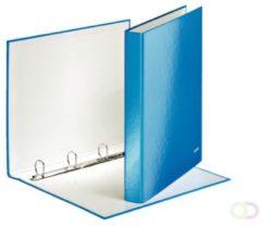Ringband Leitz WOW A4 4-rings D-mech 25mm karton blauw