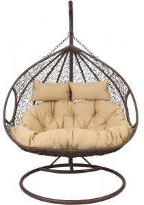 Afbeelding van Bruine Lesliliving Outdoor Living hangstoel Close 2-pres - sandy