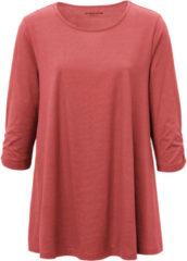 Green Cotton Lang shirt van 100% katoen met 3/4-mouwen Van groen Cotton rood