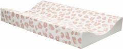 Roze Bébé-jou aankleedkussen 72x44 cm Leopard Pink