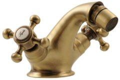 Bidetmengkraan Sapho Antea 2-knop Gebogen 7.2 cm Brons (incl. clickwaste)