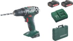 Metabo BS 18 Accu boorschroefmachine 18 Volt 2 x 2.0 Ah Li-Power. SC 60 Plus. 10 mm boorhouder