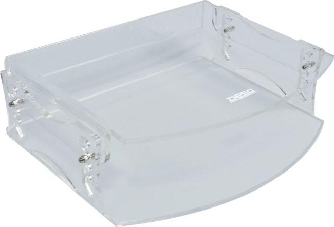 Afbeelding van DESQ® Acryl verstelbare monitor verhoger | 5 hoogtes | 50-105 mm | 15kg | Helder transparant