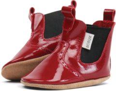 Rode Bobux - Soft Soles - Glossy red mini jodphur - Babyslofjes - EU 18