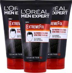 L'Oréal Paris Men Expert L'Oréal Paris Men Expert ExtremeFix Haargel - 3 x 150ml - Multiverpakking