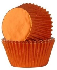 House of Marie Cupcake Cups Folie Oranje 51x28mm. 24st.