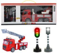 Toitoys Toi-toys Brandweerwagen Met Verkeerslichten Rood 49 Cm