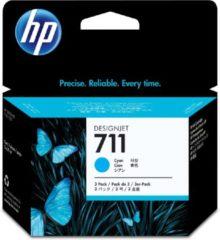 Cyane HP 711 - Inktcartridge / Cyaan / 3-pack (CZ134A)