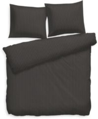 Antraciet-grijze Refined Heckett & Lane Stripe - Dekbedovertrek - Lits-jumeaux - 240x200/220 cm + 2 kussenslopen 60x70 cm - Antraciet
