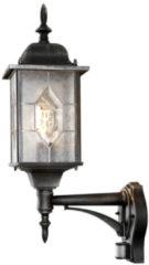 Zilveren Konstsmide Milano - Wandlamp opwaarts 53cm - 230V - E27 - zwart/zilver