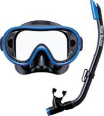 ReefTourer Snorkelmasker Duikbril Snorkelset voor kinderen tot ong. 10 jaar RC-0203- zwart/blauw