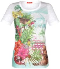 Shirt Alba Moda weiß/bunt