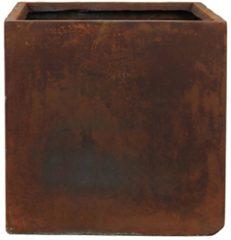 Bruine DBT - Bloempot - Plantenbak - Grote bloempot - Bloempot XXL - Bruin - Roestbruin - Kunststof - Cement