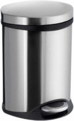 Roestvrijstalen Pedaalemmer Smedbo Outline Lite 6 Liter 23,5x21,5x32 cm Geborsteld RVS