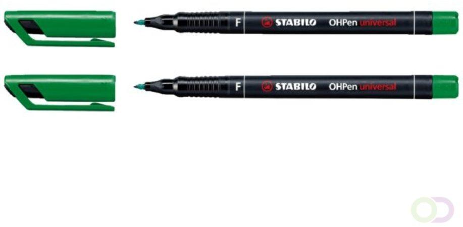 Afbeelding van Viltstift Stabilo OHP 842/36 rond groen 0.7mm