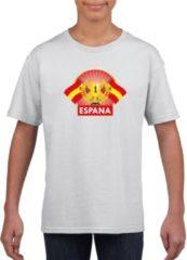 Witte Shoppartners Wit Spaans kampioen t-shirt kinderen - Spanje supporter shirt jongens en meisjes XL (158-164)