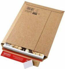 Colompac 100 stuks Kartonnen Verzendenvelop, golfkarton A3 envelop 340x500mm bruin zelfklevend/tearstrip (Geschikt voor verzending van boeken 34x50x5cm)