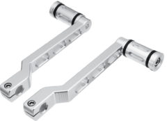 Chrome Edge Cut Heel/Toe Shift Lever with Shifter Pegs For Harley Touring Softail Motorcycle