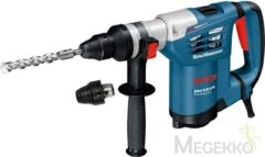 Blauwe Bosch Professional GBH 4-32 DFR Boorhamer - 900 Watt - 4,2 J - Met SDS-plus wisselhouder, 13 mm snelspanboorhouder en L-BOXX