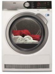 Witte AEG T8DE84CS warmtepomp wasdroger met SensiDry®-technologie en ProSense